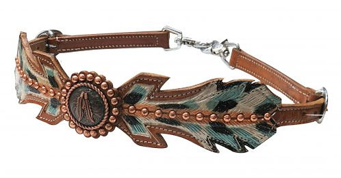 Studded Feather Wither Strap