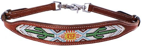 Navajo Cactus Beaded Wither Strap