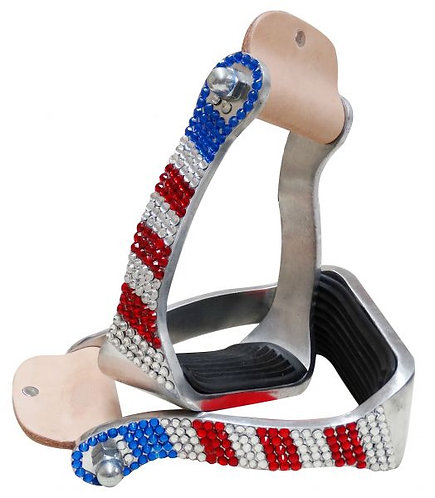 Patriotic Bling Stirrups