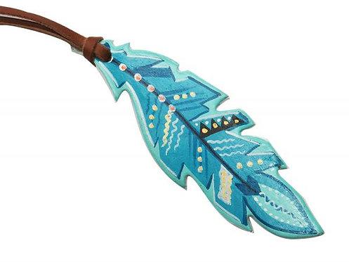 The Blues Saddle Feather