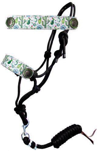 Cactus Print Rope Bronc Halter w/ Lead