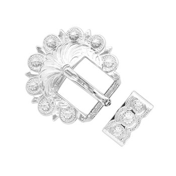 Shiny Silver Berry 2pc Buckle