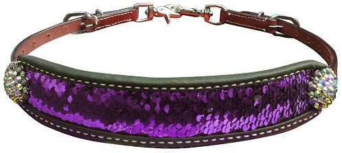 Purple & Silver Sequin Inlay Wither Strap
