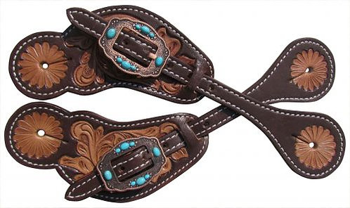 Vintage Style Turquoise Stone Spur Straps