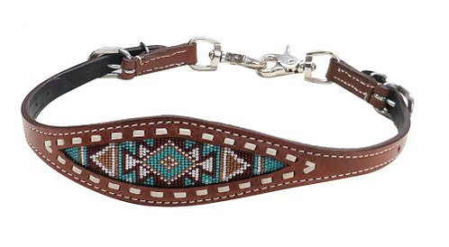 Navajo Beaded Buckstitch Wither Strap