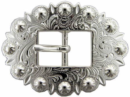 Shiny Silver Berry Cart Buckle