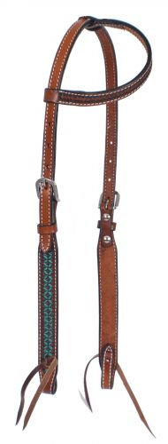 Turquoise Tooled Leather One Ear Headstall