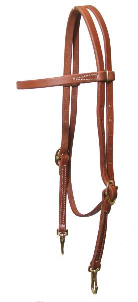 Oiled Harness Leather Quick Change Browband Headstall