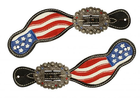 American Flag Spur Straps