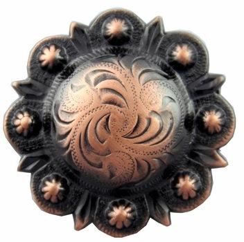 Copper Round Berry Concho