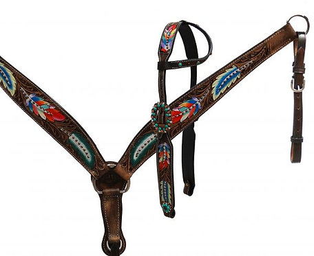 Painted Feathers Tack Set
