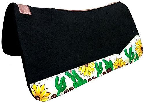 Sunflower & Cactus Saddle Pad