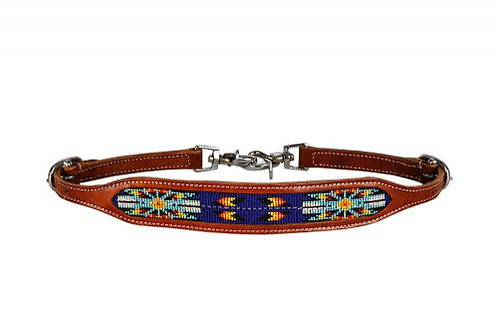 Royal Blue Beaded Wither Strap