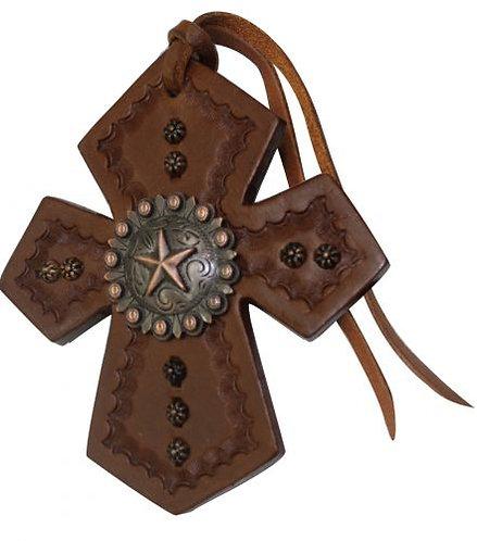 Star Concho Saddle Cross