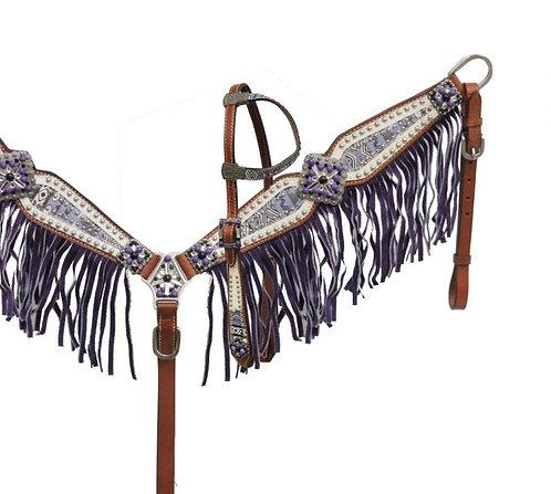 Purple Aztec Fringe Tack Se