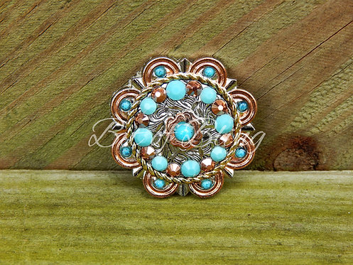 City Slicker Turquoise & Rose Gold Concho