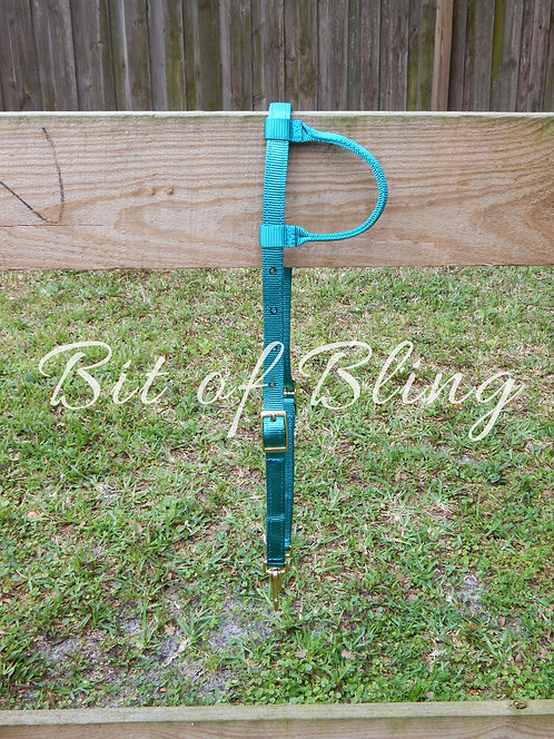 Teal Quick Change One Ear Nylon Headstall