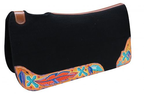 Cross & Feather Saddle Pad