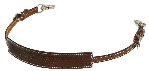 Basket Tooled Wither Strap