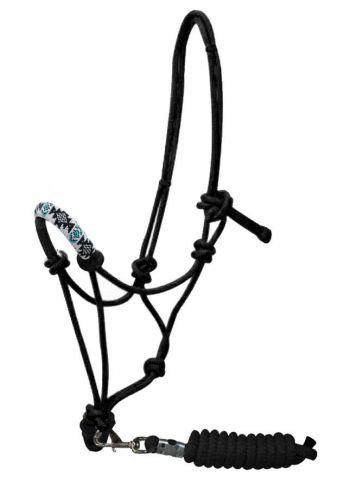 Beaded Rope Halter w/ Lead #16230