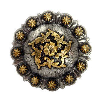 Antique Silver & Gold Coloma Berry Concho