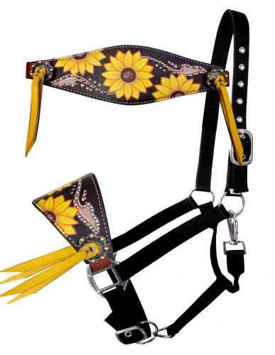 Studded Sunflower Bronc Halter