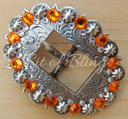 Antique Silver Berry Cart Buckle - Sun & Crystal