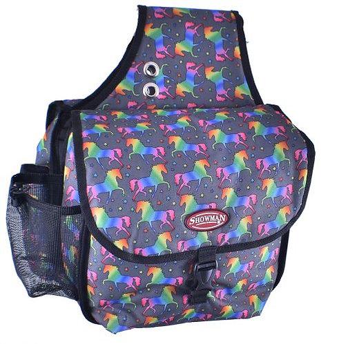 Unicorn Print Saddle Bag