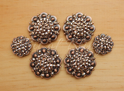 Copper Round Berry Saddle Set - Rose Gold