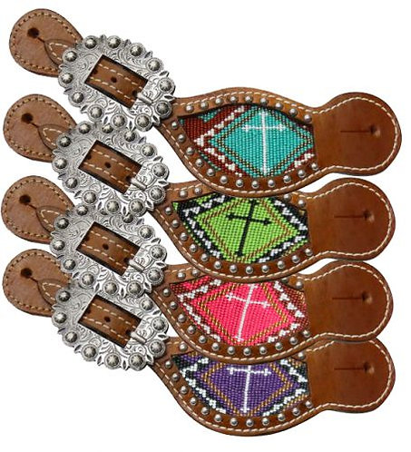 Beaded Cross Spur Straps