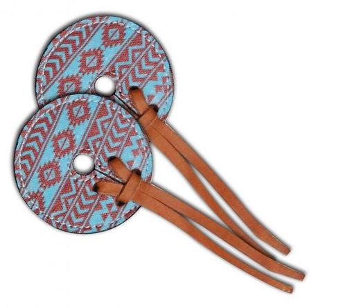 Teal & Brown Navajo Diamond Print Bit Guards