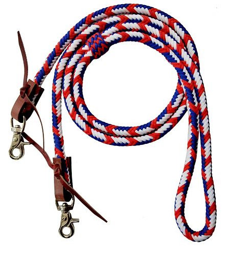 Red, White & Blue Roping/Barrel Reins