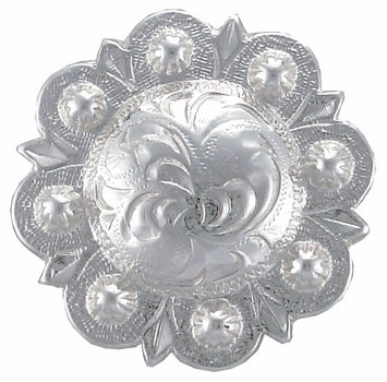Shiny Silver Round Berry Concho