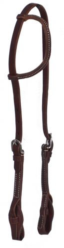 Heavy Oiled Harness Leather One Ear Headstall