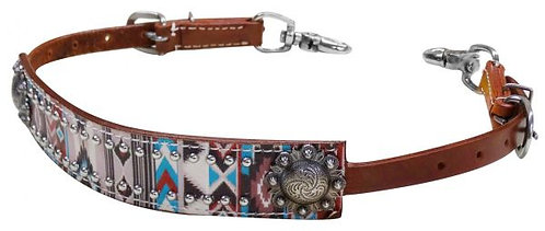 Multi Color Navajo Diamond Print Wither Strap