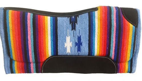 Light Blue Serape Saddle Pad