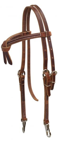 Futurity Knot Harness Leather Browband Headstall w/ Snaps