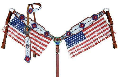 American Flag Fringe Tack Set
