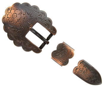 Copper Scalloped 3pc Buckle