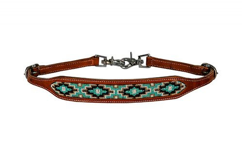 Teal Beaded Wither Strap
