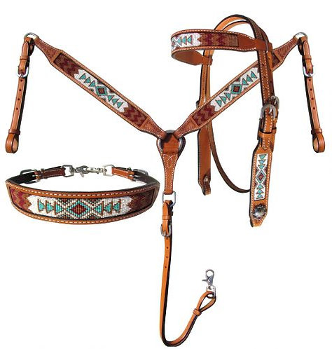 3pc Beaded Tack Set #14032