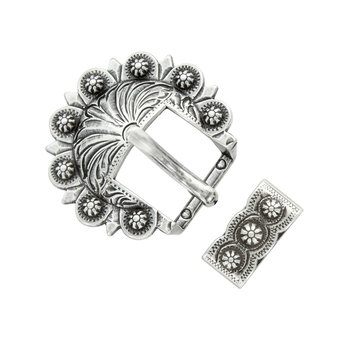 Antique Silver Berry 2pc Buckle