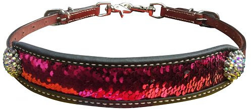 Pink & Silver Sequin Inlay Wither Strap