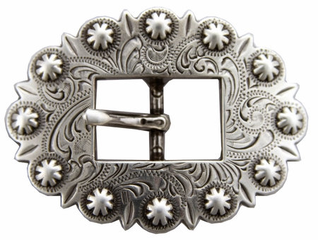 Antique Silver Berry Cart Buckle