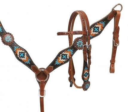Navajo Embroidered Tack Set