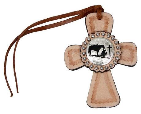 Praying Cowboy Saddle Cross