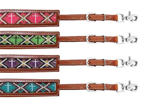 Beaded Crosses Wither Strap