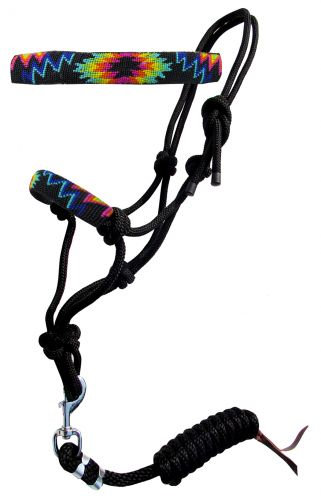 Beaded Rope Halter w/ Lead #16509