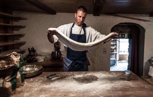Sourdough bread dough rising