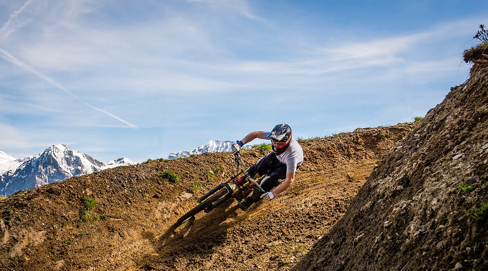 Downhill coaching with Andras